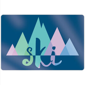 "Skiing 18"" X 12"" Aluminum Room Sign - Ski Mountain"