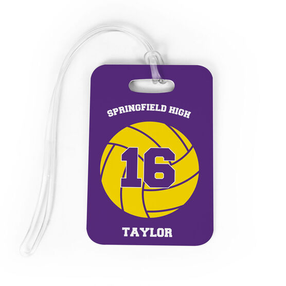 Volleyball Bag Luggage Tag Personalized Volleyball Team