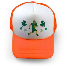 Football Trucker Hat Leprechaun