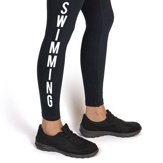 Swimming Leggings - Swimming Word