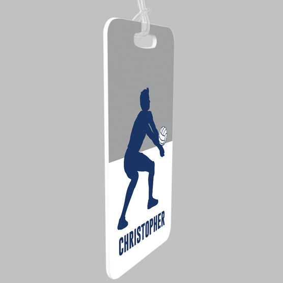 Volleyball Bag/Luggage Tag - Personalized Guy Silhouette