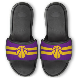 Basketball Repwell™ Slide Sandals - Team Color Stripes