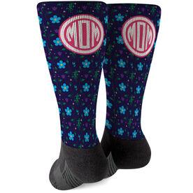 Printed Mid-Calf Socks - Flowers For Mom