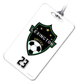 Soccer Bag/Luggage Tag Custom Soccer Logo with Team Number