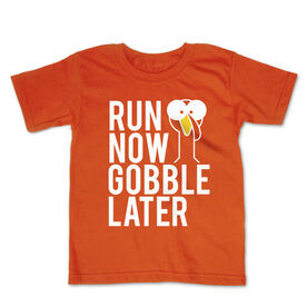 Running Toddler Short Sleeve Tee - Run Now Gobble Later (Bold)