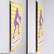 """Volleyball Aluminum Room Sign Personalized Volleyball Player Silhouette Pattern (18"""" X 12"""")"""