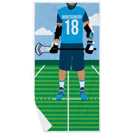 Guys Lacrosse Premium Beach Towel - Player