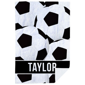 Soccer Premium Blanket - Personalized Ball Pattern