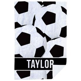 Soccer Premium Blanket - Personalized Ball Pattern