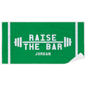 Cross Training Premium Beach Towel - Raise the Bar