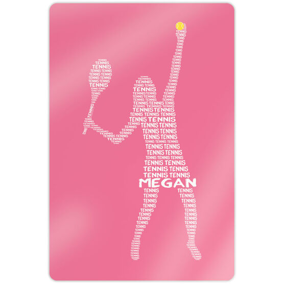 """Tennis 18"""" X 12"""" Aluminum Room Sign - Personalized Tennis Words Girl"""