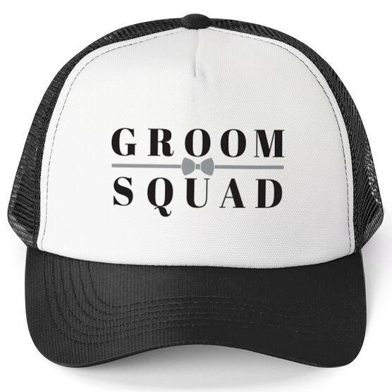 23489656 Personalized Trucker Hat - Groom Squad (Bowtie) | ChalkTalkSPORTS