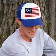 Baseball Trucker Hat - American Flag