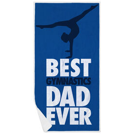 Gymnastics Premium Beach Towel - Best Dad Ever