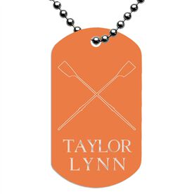 Engraved Personalized Crew Dog Tag Necklace