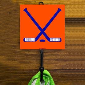 Hockey Crossed Sticks Hook