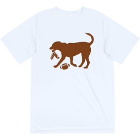 Football Short Sleeve Tech Tee - Flash The Football Dog