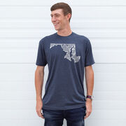 Running Short Sleeve T-Shirt - Maryland State Runner