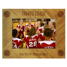 Volleyball Bamboo Engraved Picture Frame Thanks Coach
