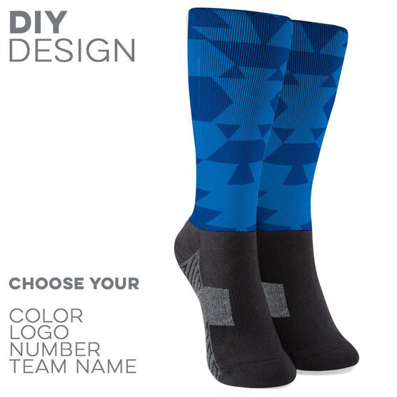 Printed Mid-Calf Socks - Aztec