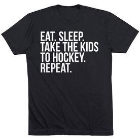 Hockey Short Sleeve T-Shirt - Eat Sleep Take The Kids To Hockey