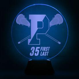Acrylic LED Lamp - Personalized Pentucket Youth Lacrosse Logo