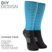 Guys Lacrosse Printed Mid-Calf Socks - Guys Lacrosse Sticks Pattern