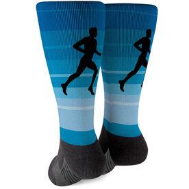 Running Printed Mid-Calf Socks - Runner Guy