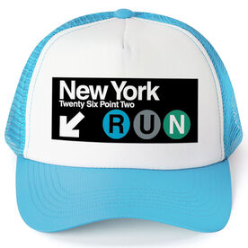 Running Trucker Hat NYC Subway 26.2
