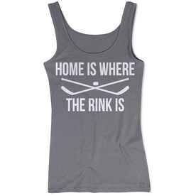Hockey Women's Athletic Tank Top - Home Is Where The Rink Is