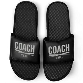 Baseball Black Slide Sandals - Coach