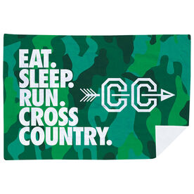 Cross Country Premium Blanket - Eat. Sleep. Cross Country. Horizontal