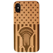 Guys Lacrosse Engraved Wood IPhone® Case - USA Lacrosse