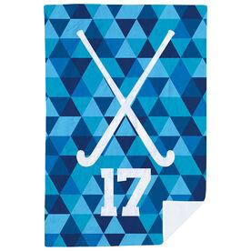 Field Hockey Premium Blanket - Personalized Field Hockey Sticks Triangles