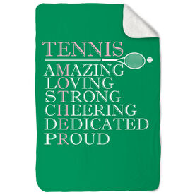 Tennis Sherpa Fleece Blanket - Mother Words