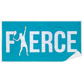 Tennis Premium Beach Towel - Fierce Girl