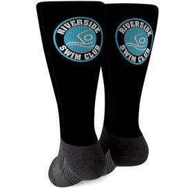 Swimming Printed Mid-Calf Socks - Your Logo