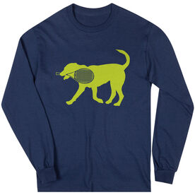 Tennis Tshirt Long Sleeve Dennis The Tennis Dog