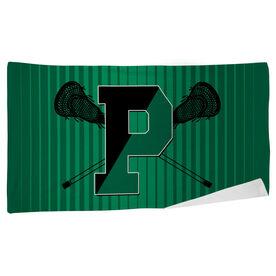 Beach Towel - Pentucket Youth Lacrosse Logo 2