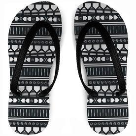 Softball Flip Flops Aztec