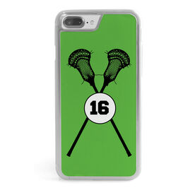 Guys Lacrosse iPhone® Case - Lacrosse Sticks Number