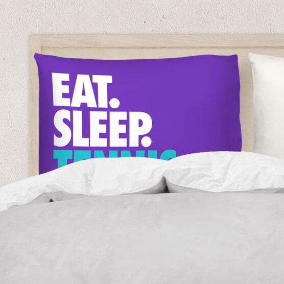 Tennis Pillowcase - Eat. Sleep. Tennis.