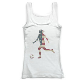 Soccer Vintage Fitted Tank Top - Grand Old Kicker Girl