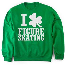 Figure Skating Crew Neck Sweatshirt - I Shamrock Figure Skating