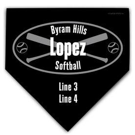 Softball Personalized Custom Team Home Plate Plaque