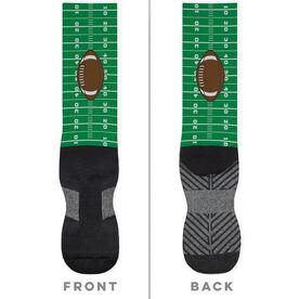 Football Printed Mid-Calf Socks - Field