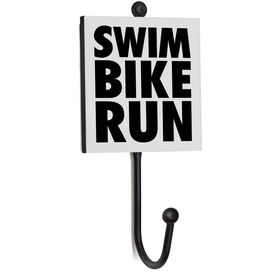 Triathlon Medal Hook - Swim Bike Run Stacked
