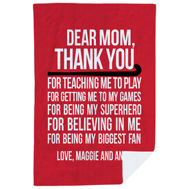 Field Hockey Premium Blanket - Dear Mom