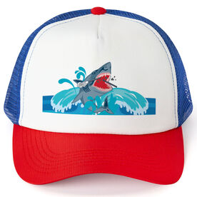 Guys Lacrosse Trucker Hat Shark Chomp