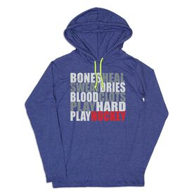 Men's Hockey Lightweight Hoodie - Bones Saying Hockey